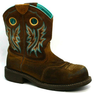 Ariat Womens Fatbaby Cowgirl Brown Boots 9.5B